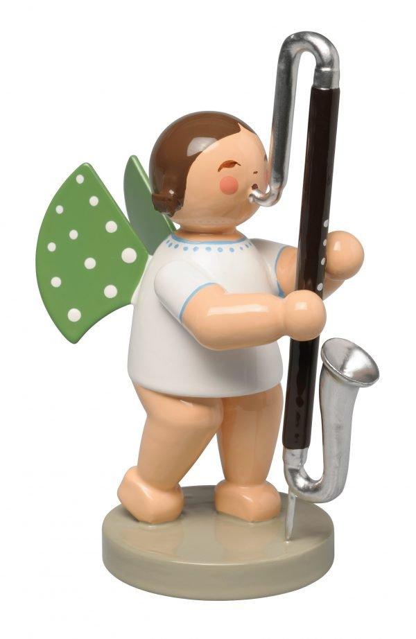 650_76 Engel mit Kontrabassklarinette der Firma Wendt und Kühn