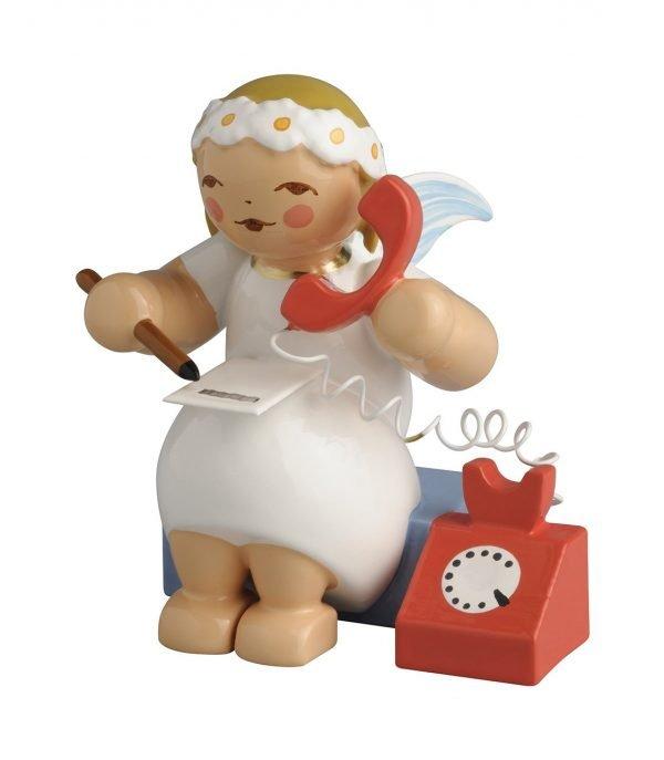 634_70_37 Margeritenengel sitzend mit Telefon der Firma Wendt & Kühn