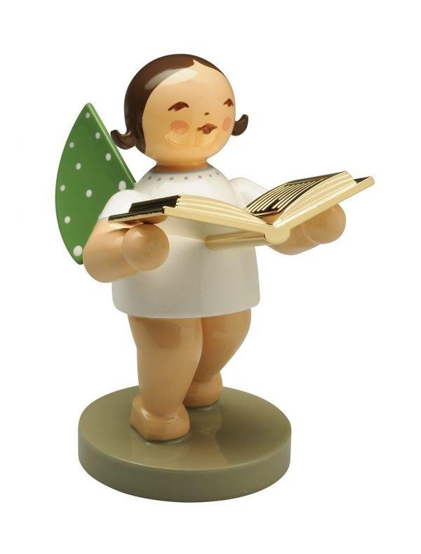 Vorleser, Engel mit Buch, vergoldet, Firma Wendt und Kühn