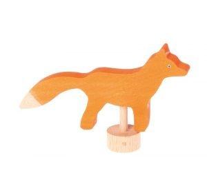 Handbemalter Stecker Fuchs