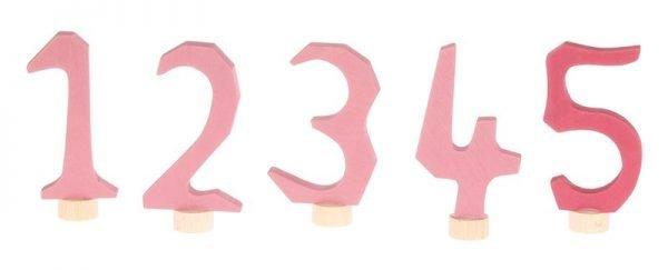 Zahlenstecker Set 1-5 rosa