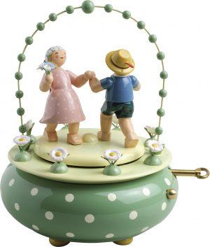 """Spieldose """"Zwei Tänzer im Bogen"""""""