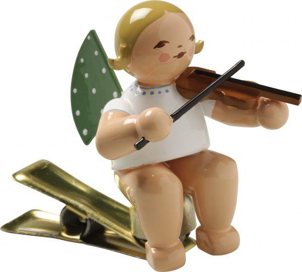 Engel mit Geige, auf Klemme