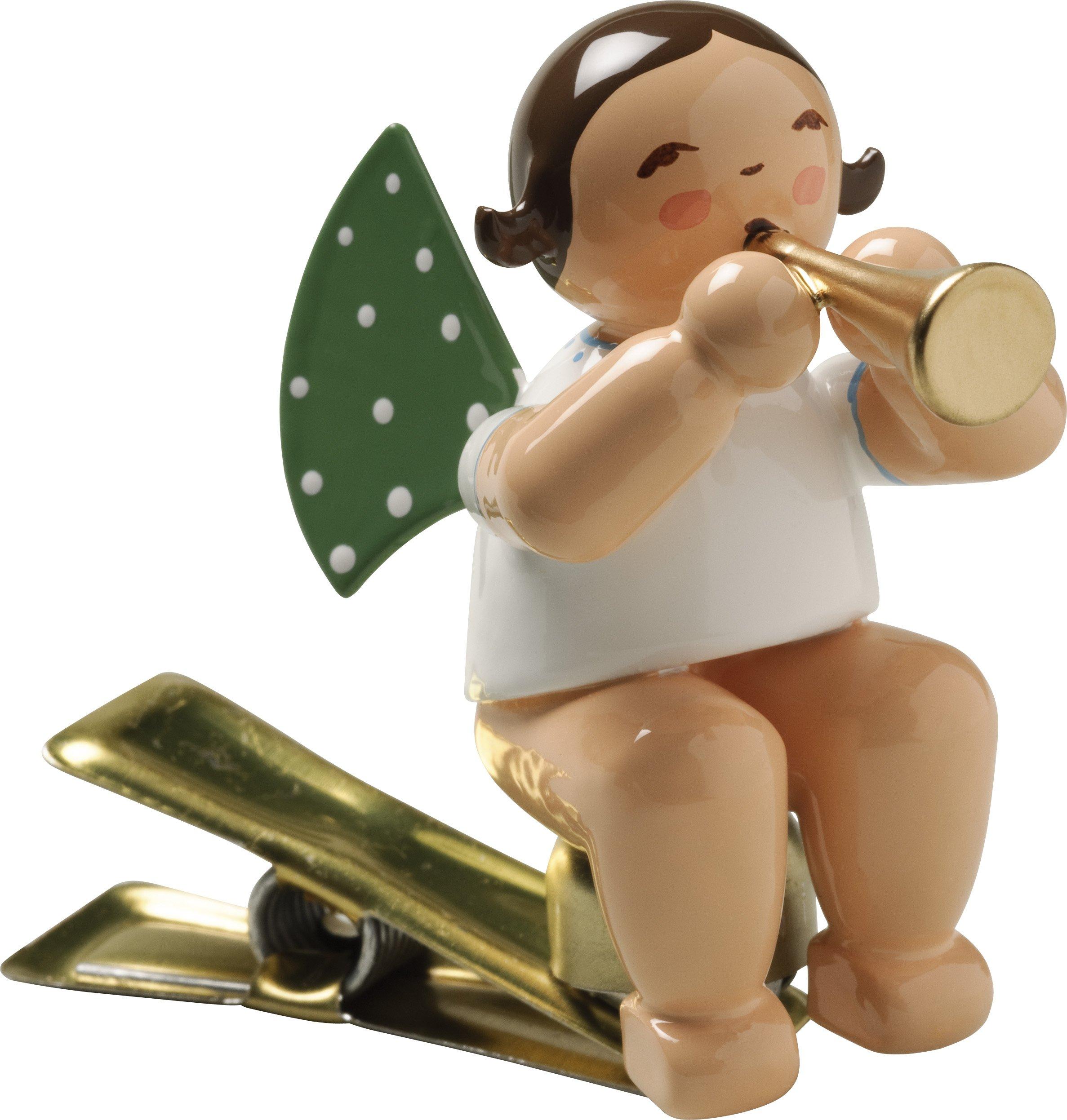 Engel mit Flöte, auf Klemme