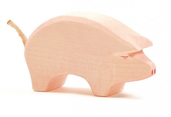 Schwein Rüssel tief