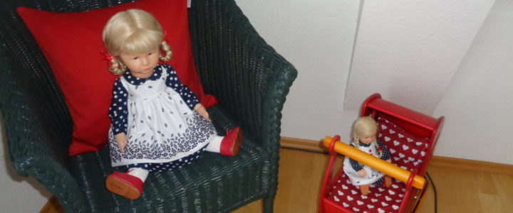 Käthe Kruse Puppen und Moover Puppenwagen
